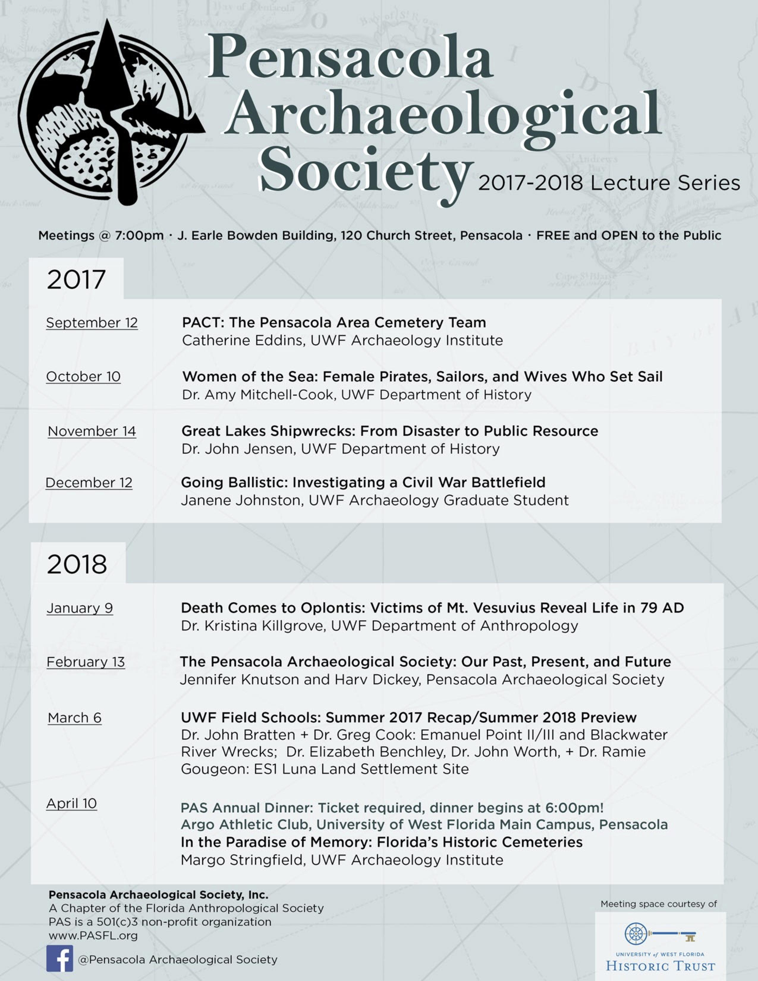 2017-18 PAS lecture series flyer